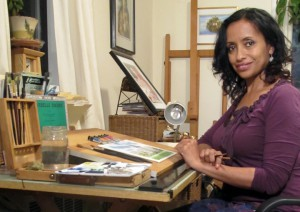 Alaiyo in her studio