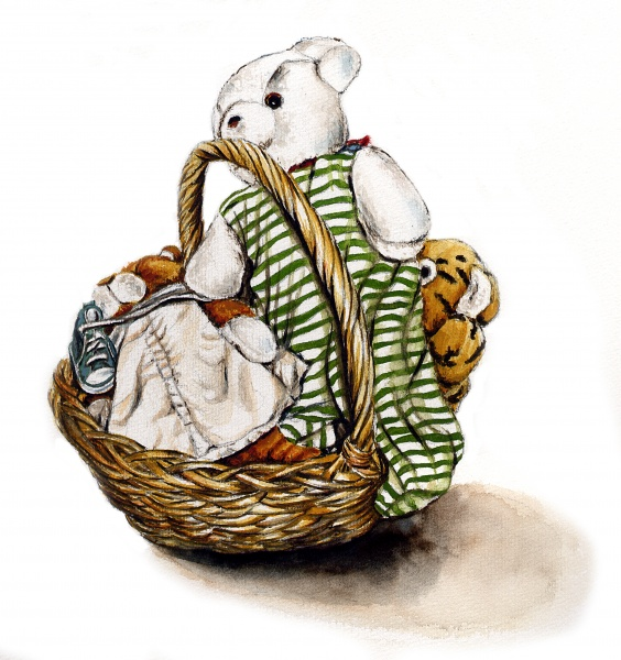 toys-in-basket_watercolor_graphite_alaiy-bradshaw